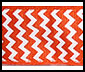 chevron, orange and white